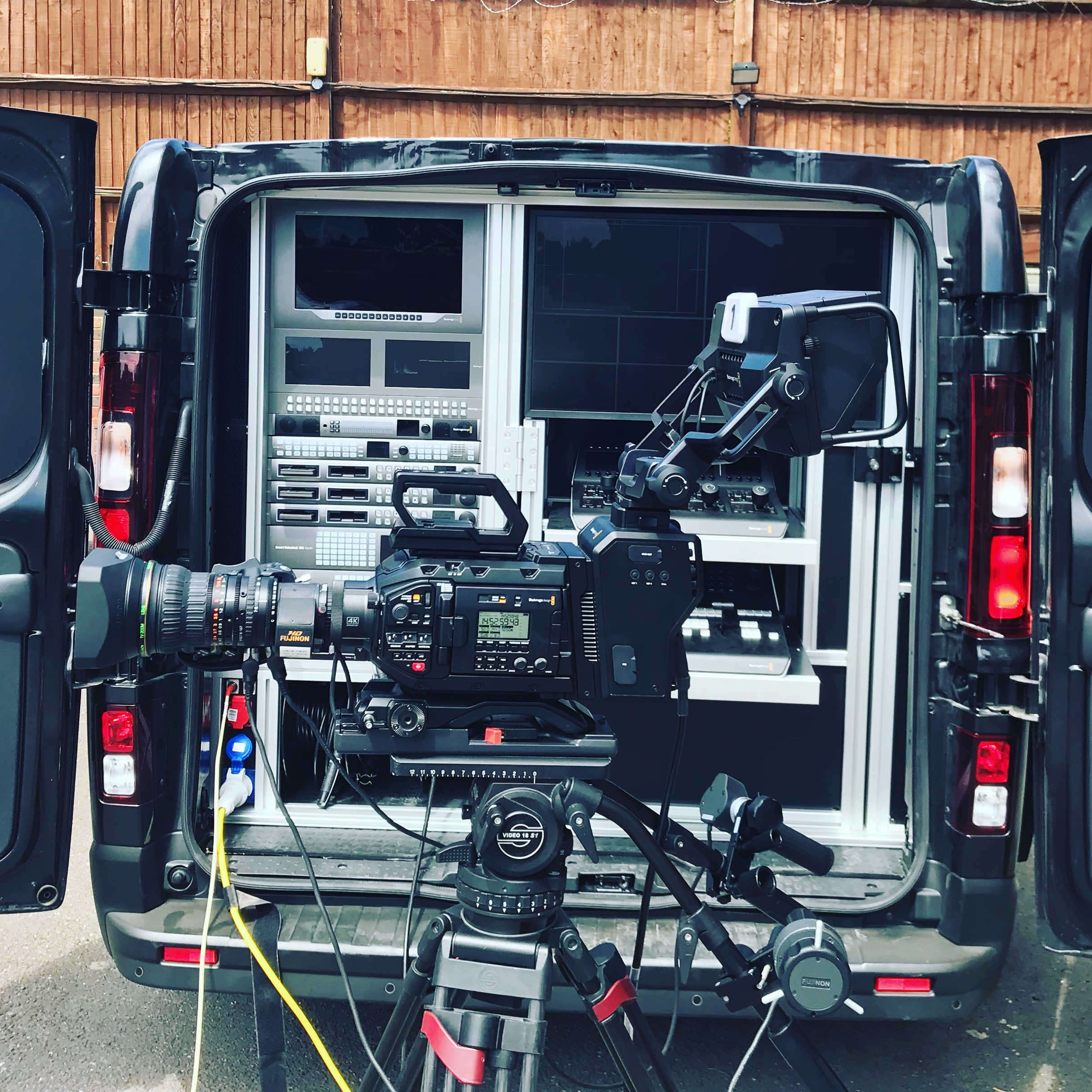 Blackmagic Design's Production truck visits Finepoint