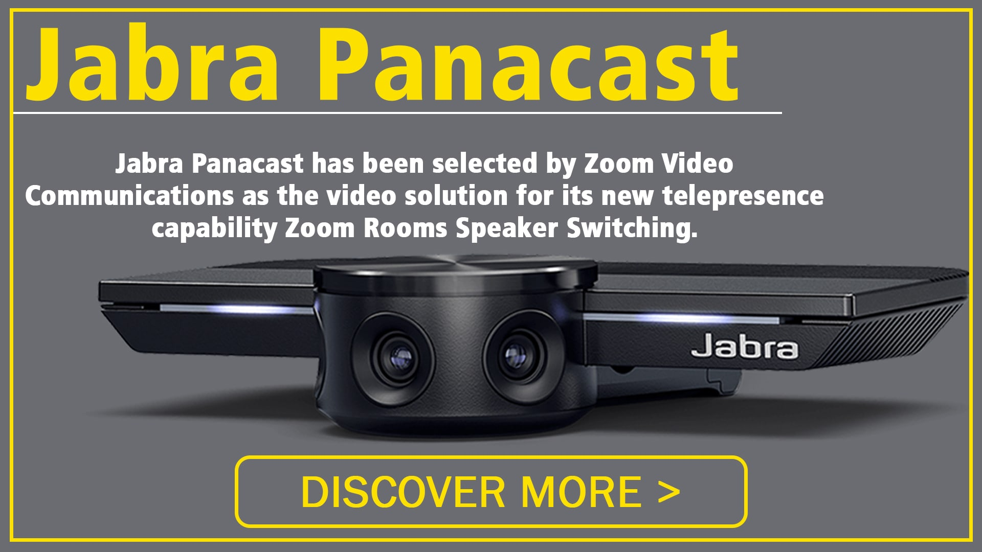 Jabra PanaCast selected by Zoom Video Communications